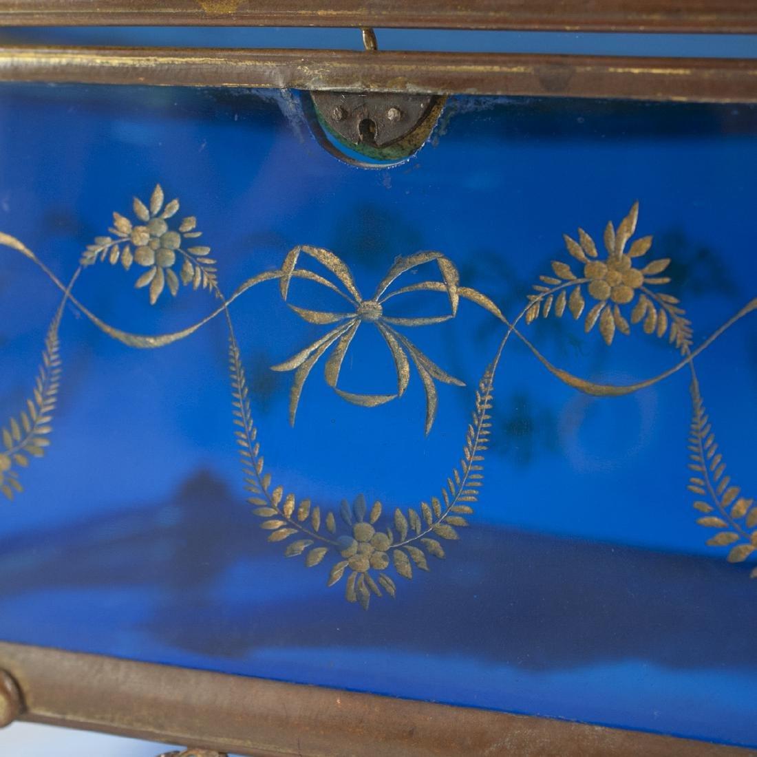 Victorian Glass & Brass Box - 2