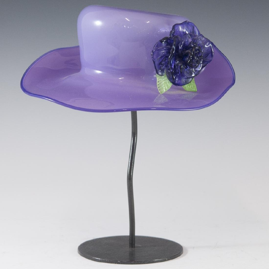 Signed Murano Glass Ladies Hat