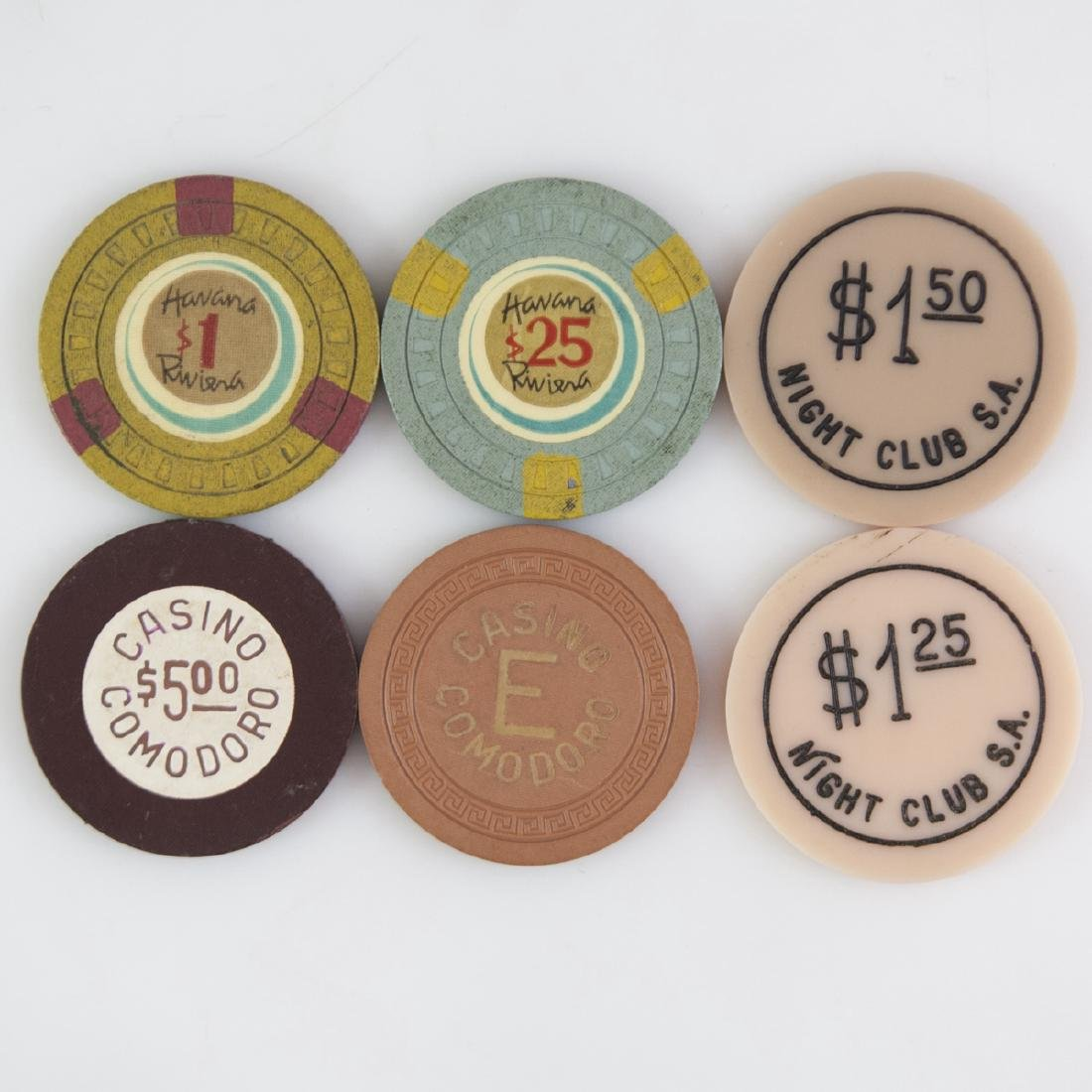 Vintage Poker Chip Collection