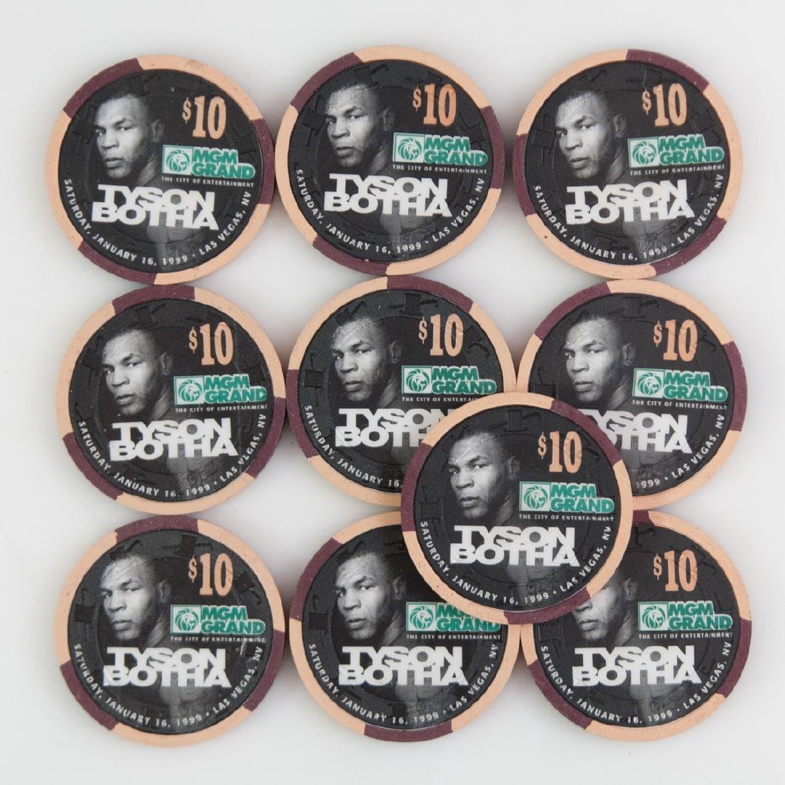 "MGM Grand 1999 ""Tyson Botha"" Chips"