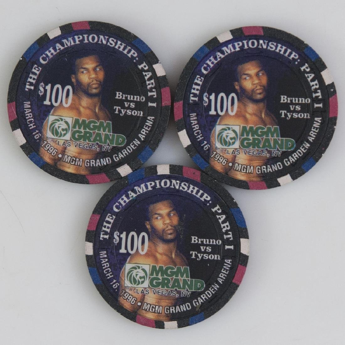 "MGM Grand 1996 ""The Championship Part I"" Chips"