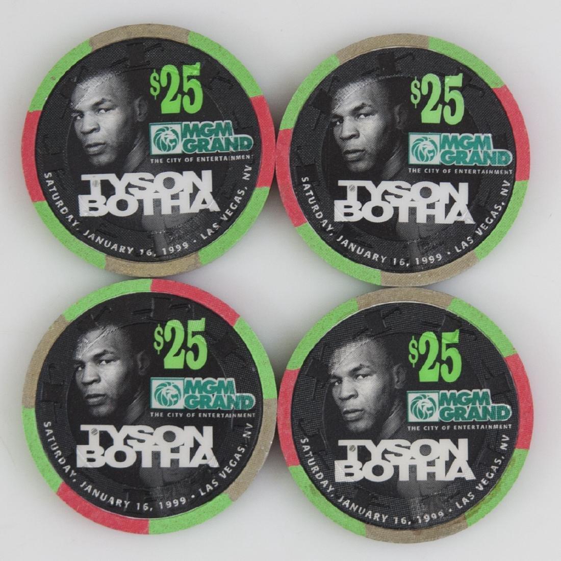 "MGM Grand 1999 ""Tyson Botha"" Chips - 2"