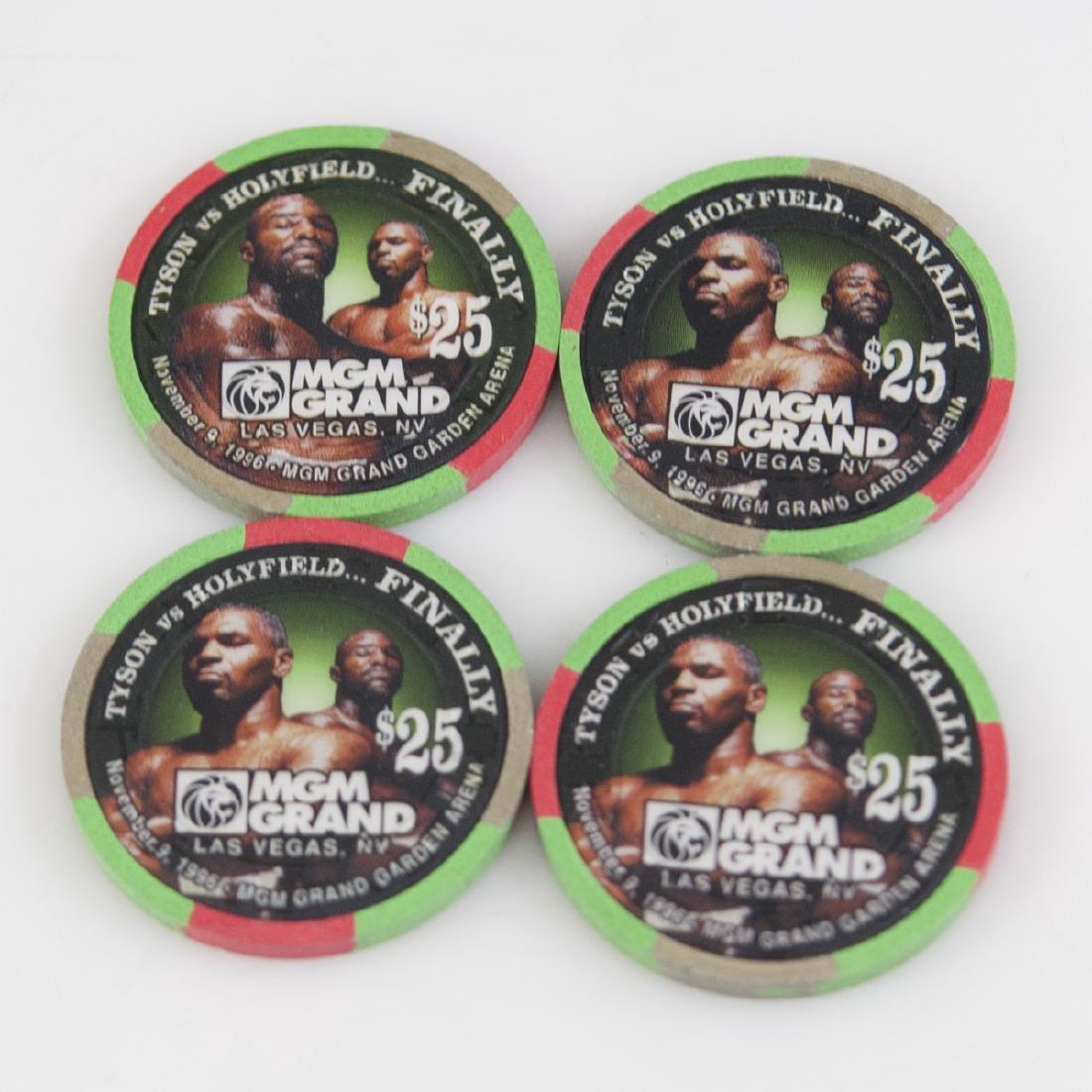 "MGM Grand 1996 ""Tyson Vs. Holyfield...Finally"" Chips - 3"