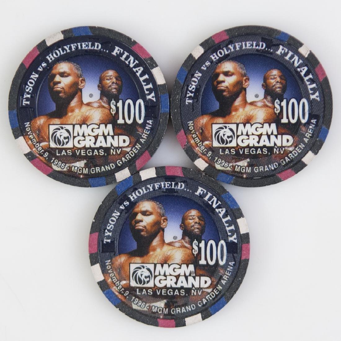 "MGM Grand 1996 ""Tyson Vs. Holyfield...Finally"" Chips"