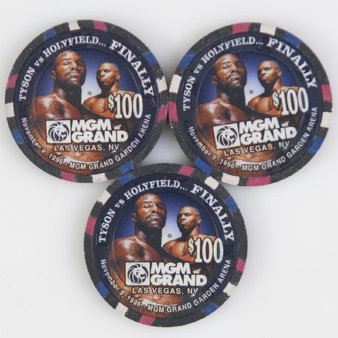 "MGM Grand 1996 ""Tyson Vs. Holyfield...Finally"" Chips - 2"