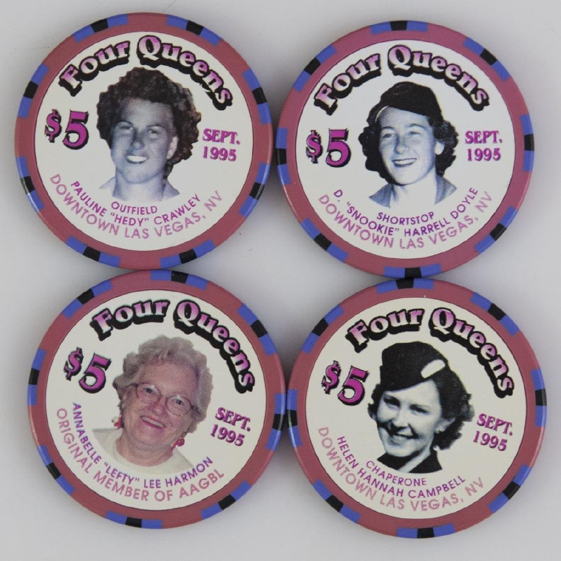 """1995 """"Four Queens"""" AAGBL Chips - 2"""