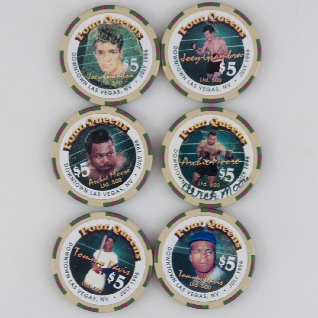 """Four Queens"" Limited Edition Signed Chips"