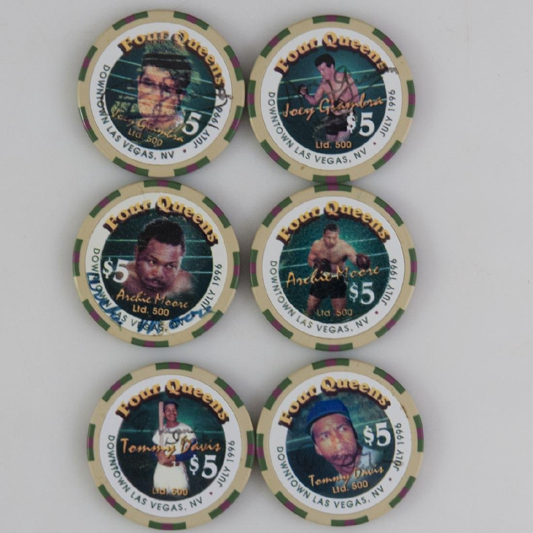 """Four Queens"" Limited Edition Signed Chips - 2"