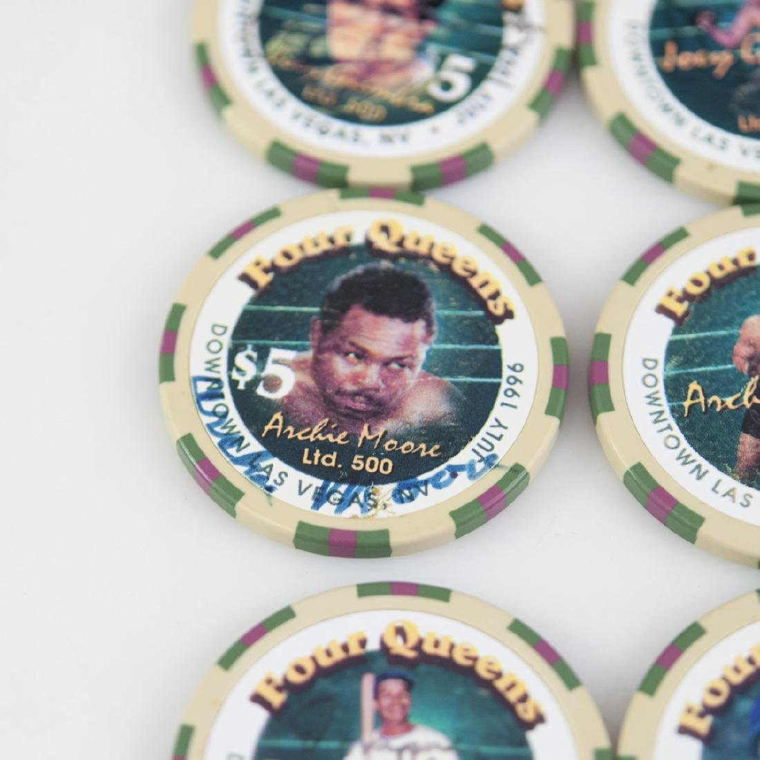 """Four Queens"" Limited Edition Signed Chips - 3"