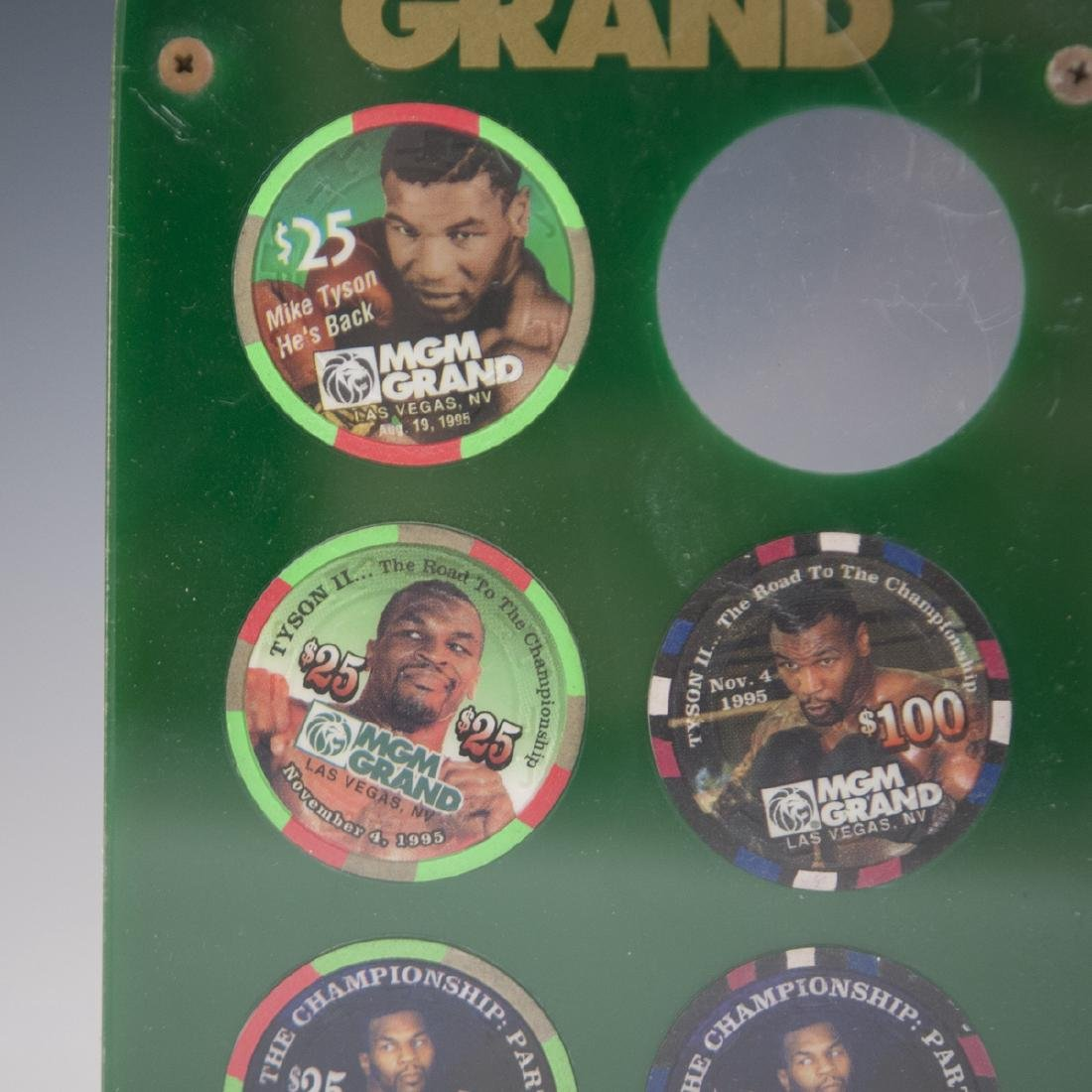 MGM Grand Casino Mike Tyson Chip Set - 2