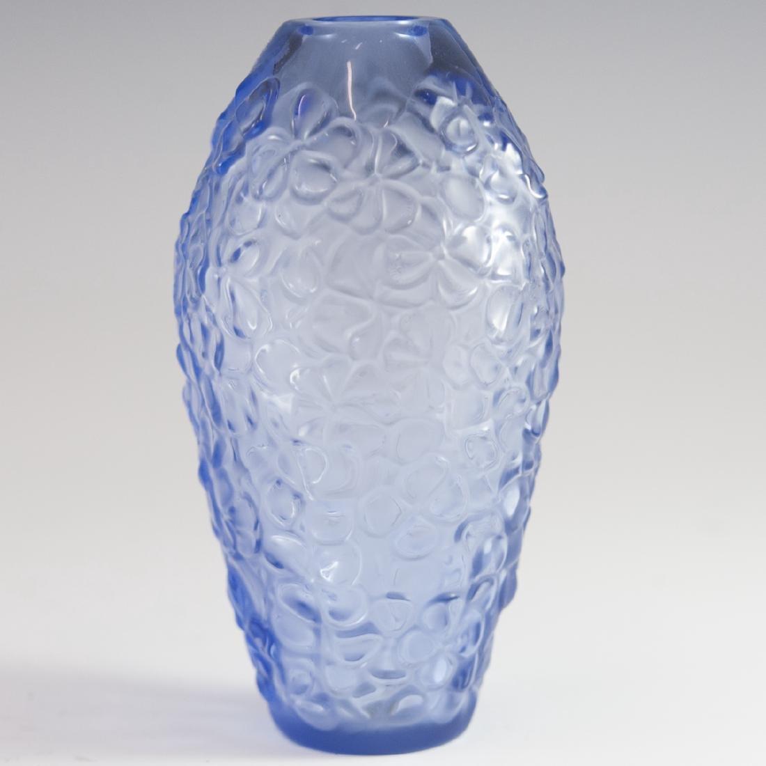 """Lalique Crystal """"Violeta"""" Vase"""