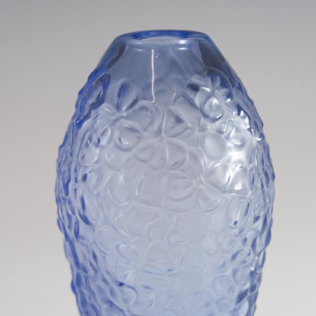 """Lalique Crystal """"Violeta"""" Vase - 2"""