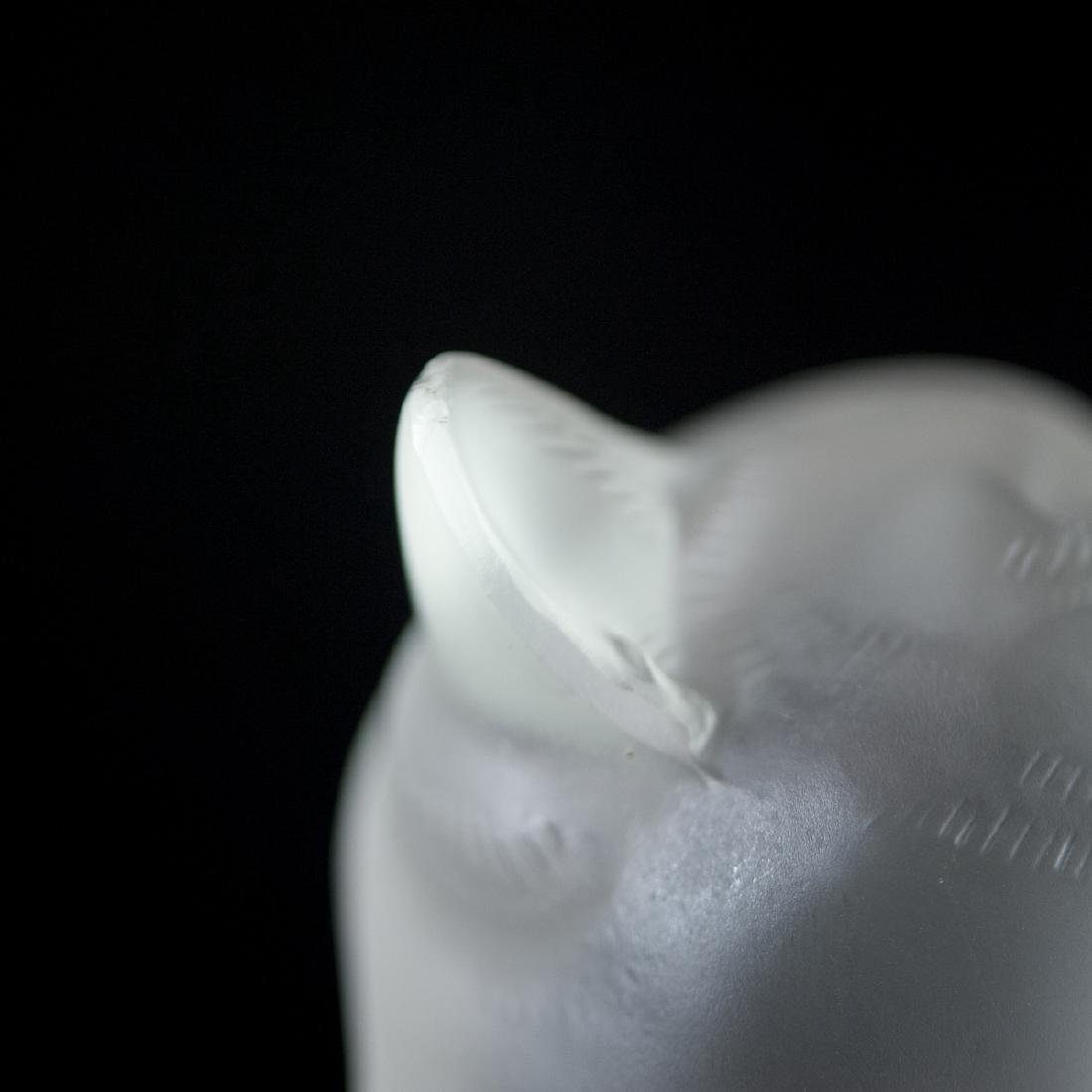 Lalique Frosted Crystal Cat - 2