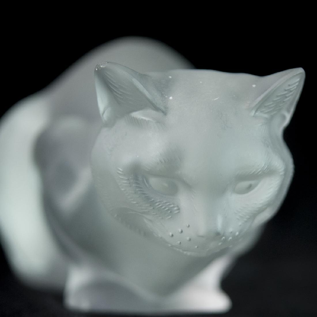 Lalique Frosted Crystal Cat - 4