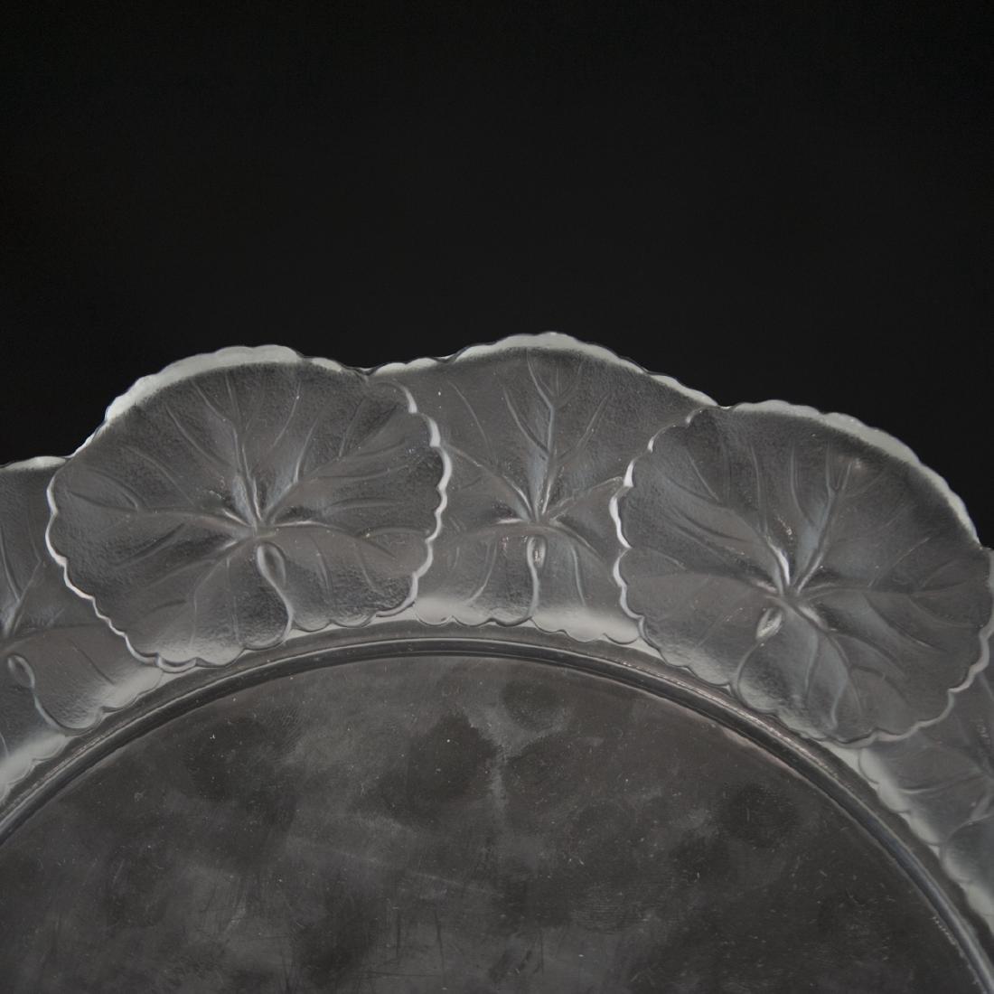 """Lalique Crystal """"Honfleur"""" Plate - 2"""
