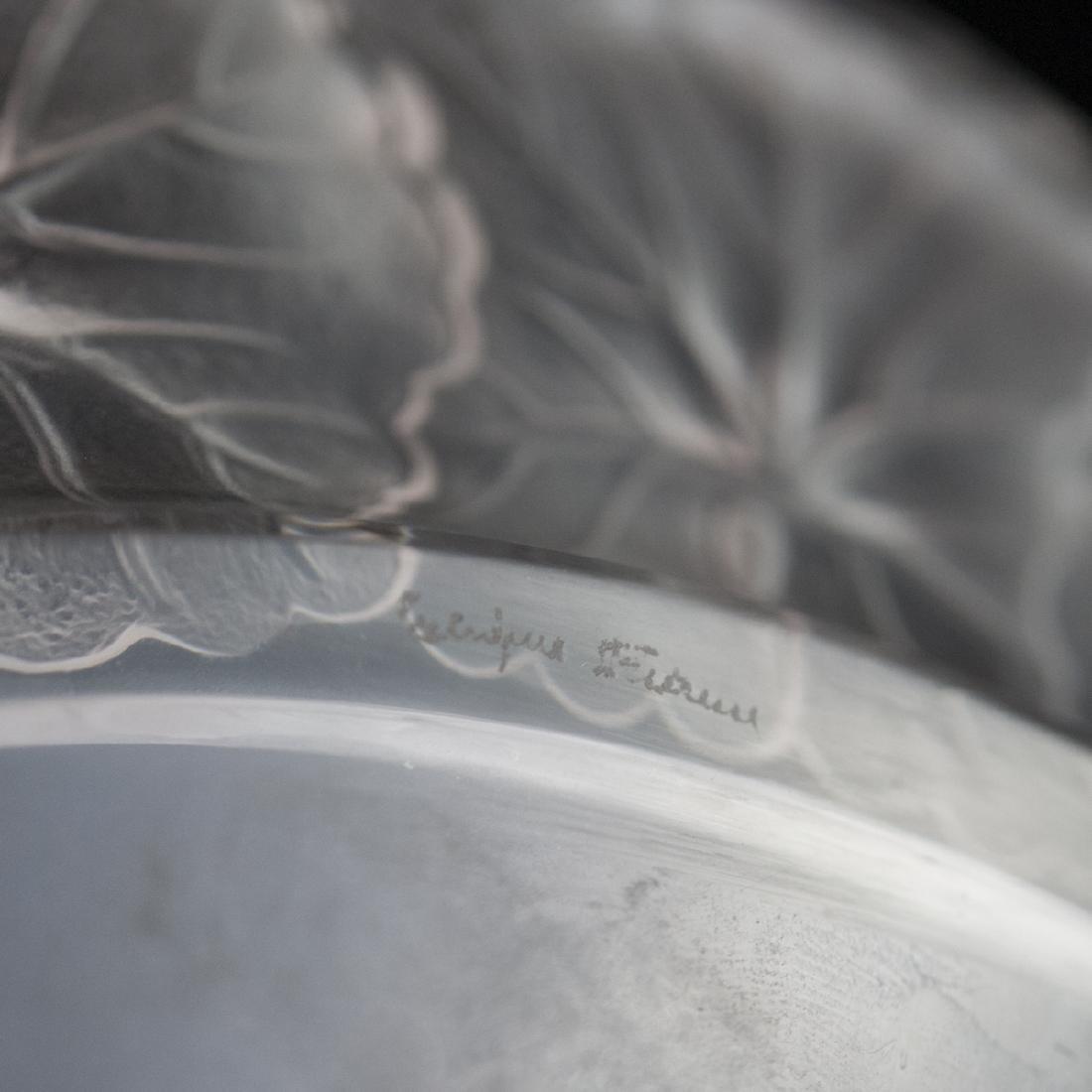 """Lalique Crystal """"Honfleur"""" Plate - 3"""