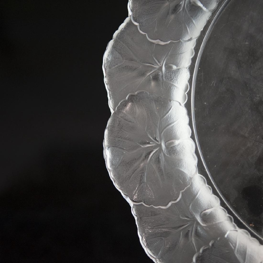"""Lalique Crystal """"Honfleur"""" Plate - 4"""