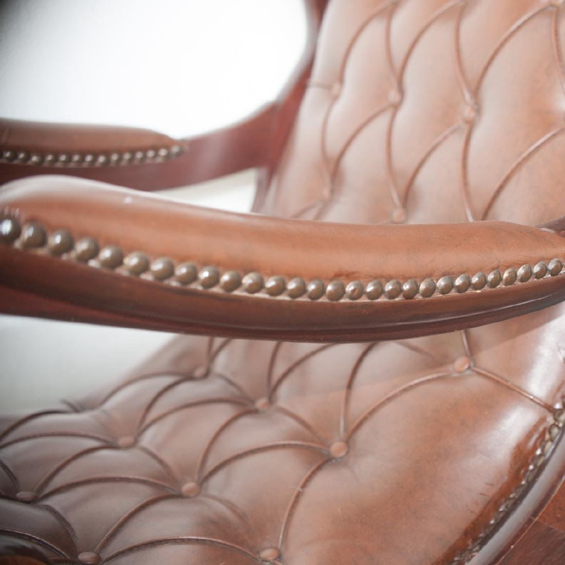 Leather & Wood Rocking Chair - 2