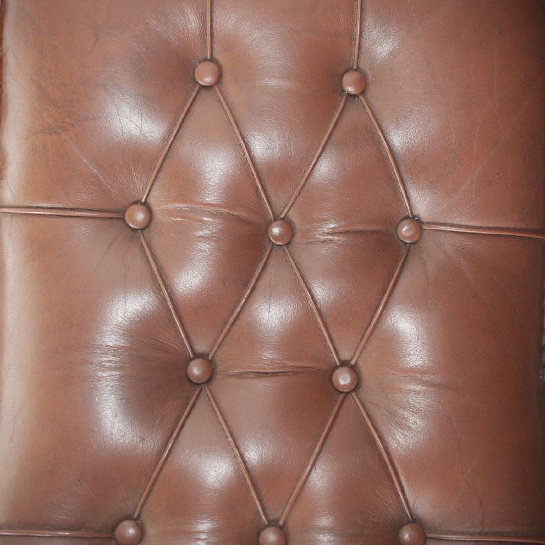 Leather & Wood Rocking Chair - 4