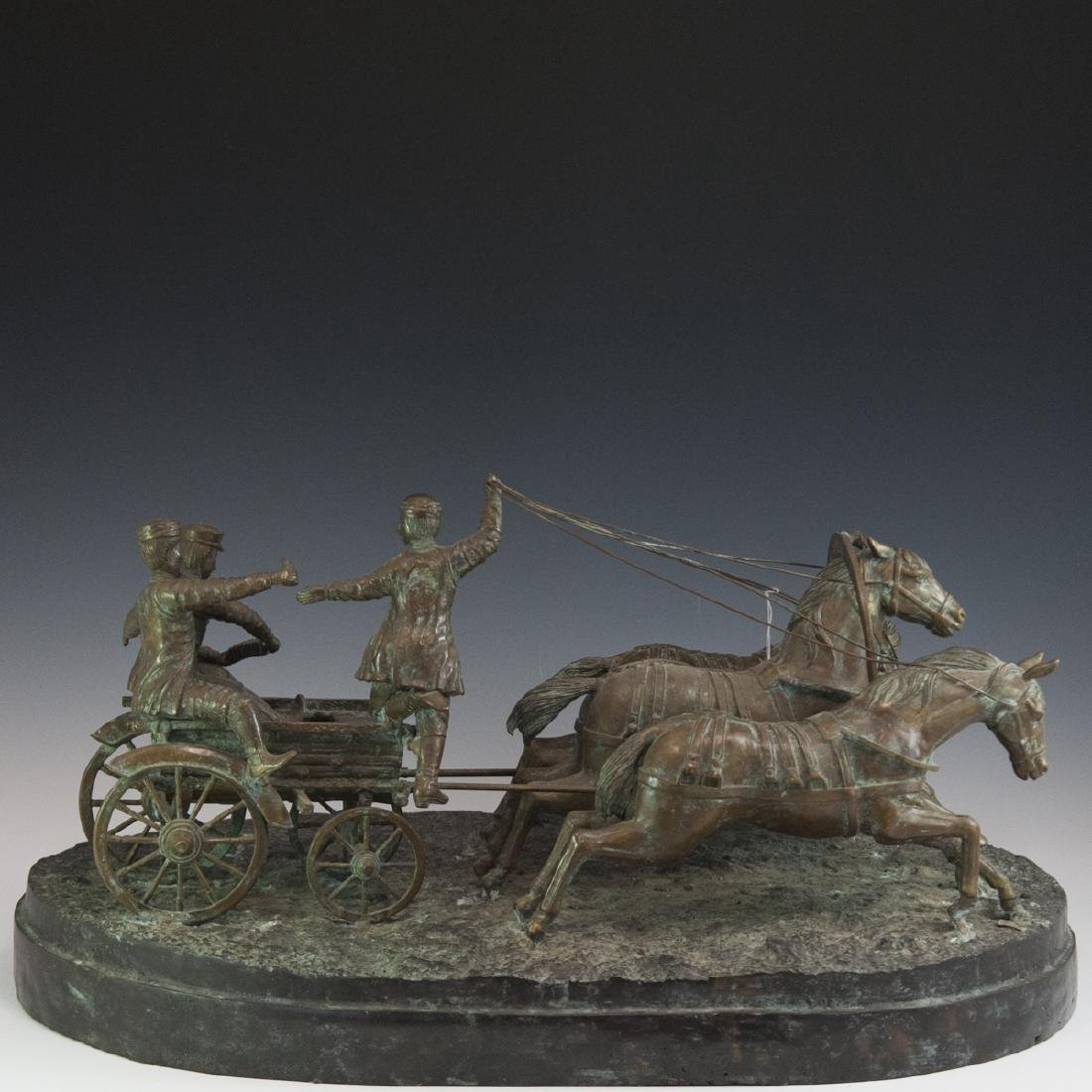 Antique Russian Figural Bronze Sculpture
