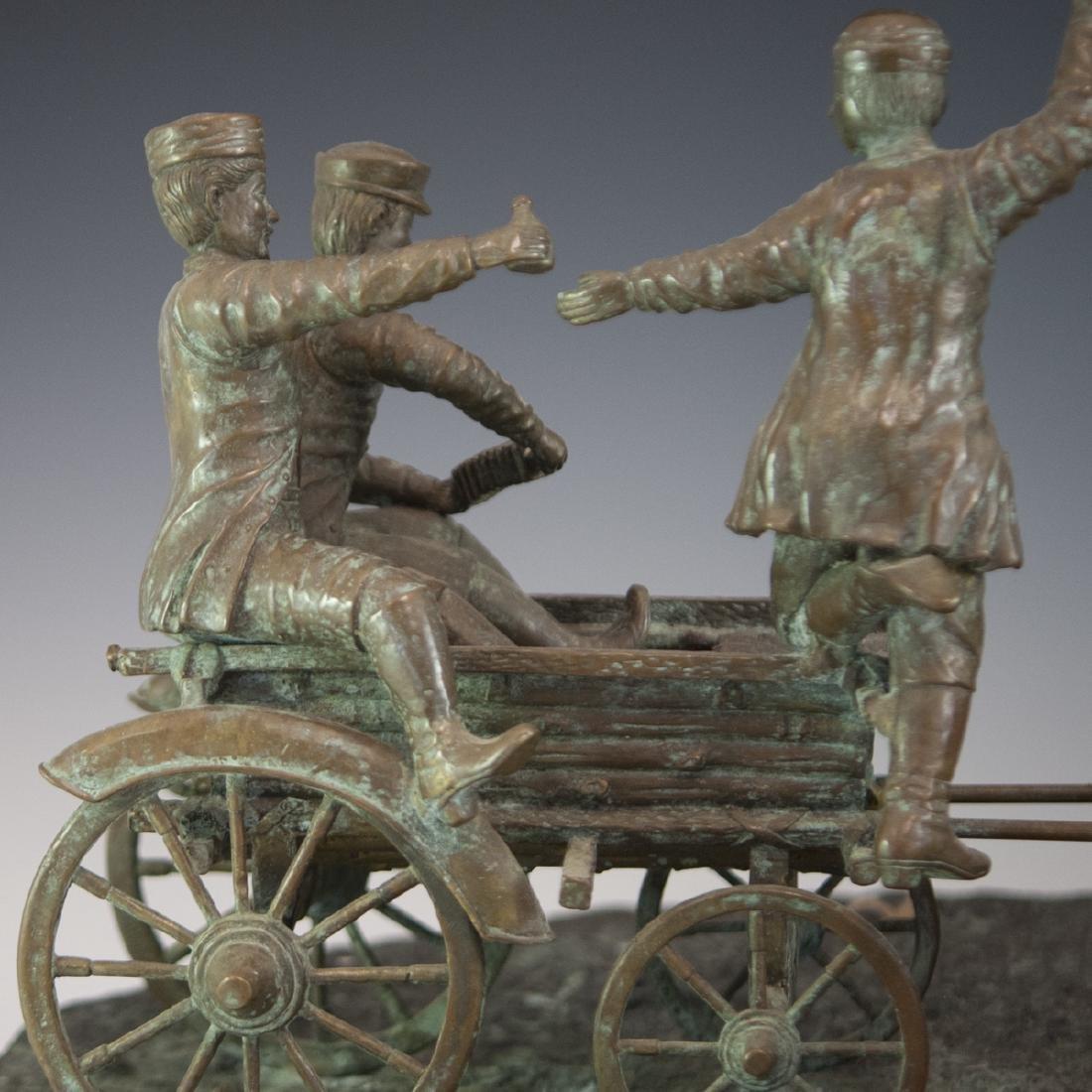 Antique Russian Figural Bronze Sculpture - 3