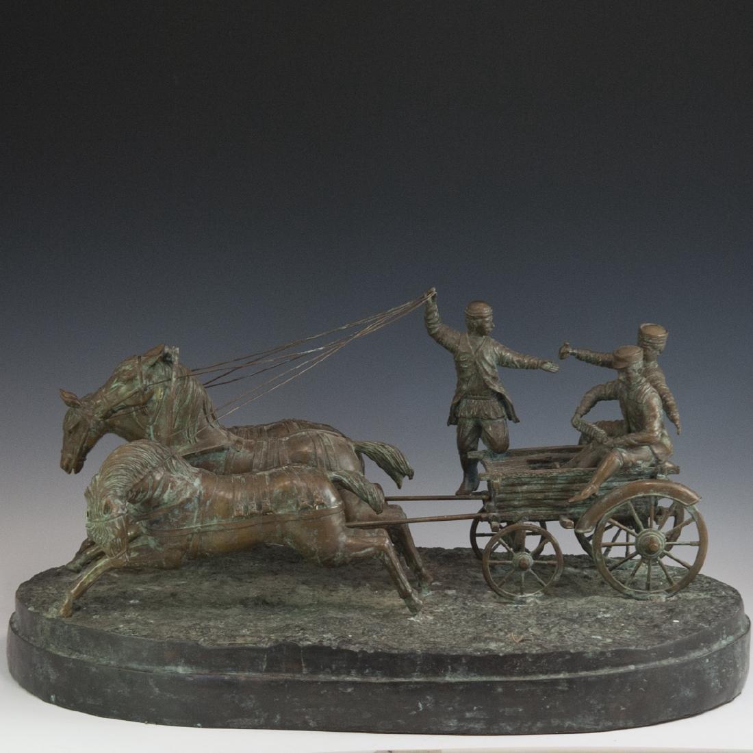 Antique Russian Figural Bronze Sculpture - 4