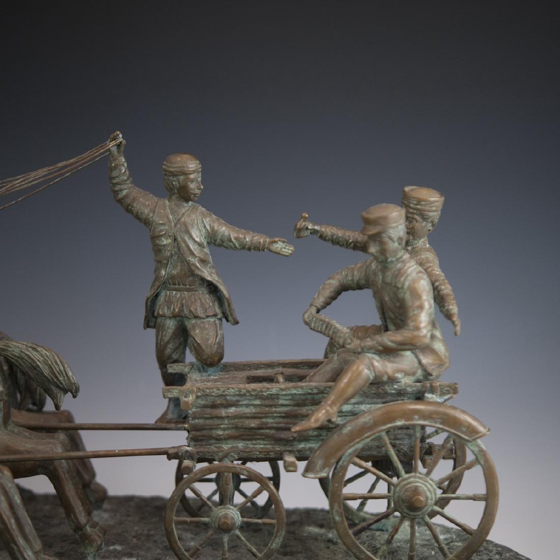 Antique Russian Figural Bronze Sculpture - 5