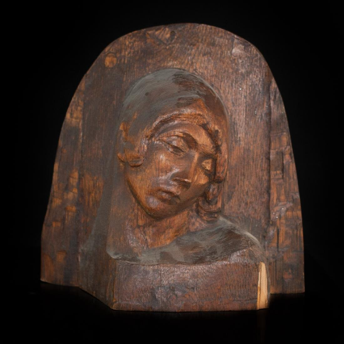 Wooden Madonna Carving