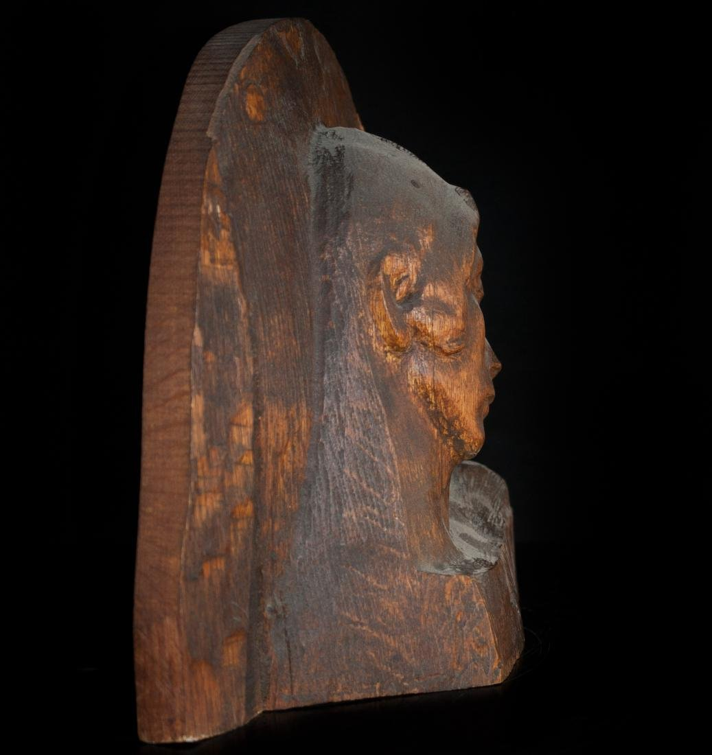 Wooden Madonna Carving - 2