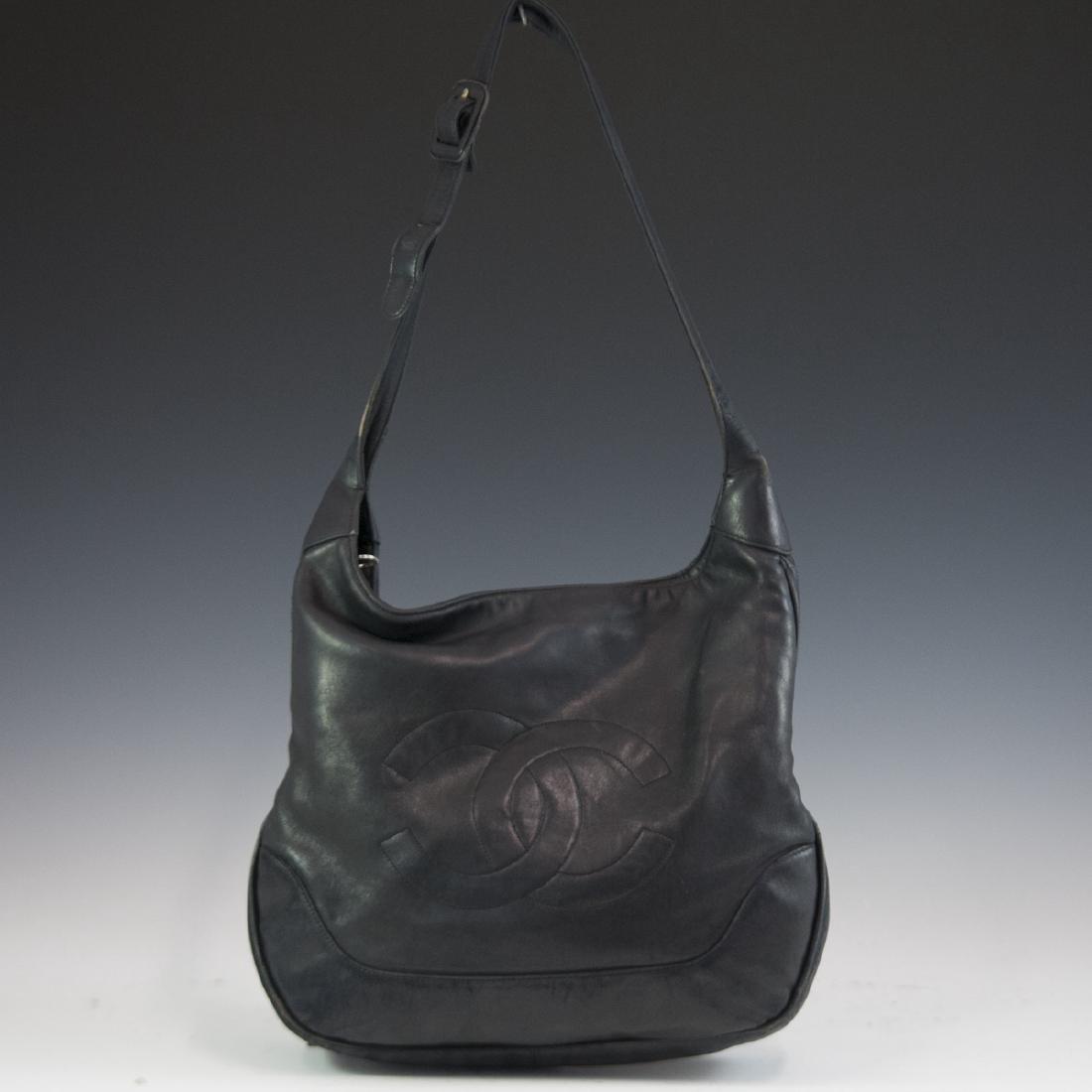 Chanel Black Leather Purse