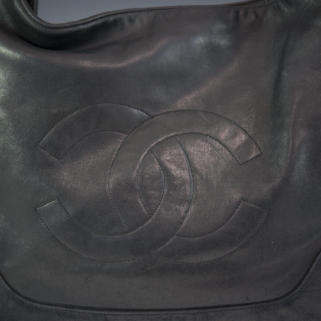 Chanel Black Leather Purse - 2