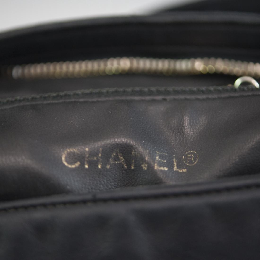 Chanel Black Leather Purse - 5