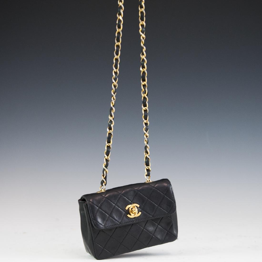 Chanel Mini Black Leather Flap Bag