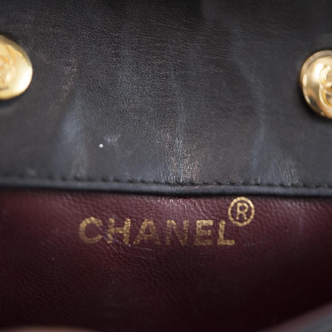 Chanel Mini Black Leather Flap Bag - 2