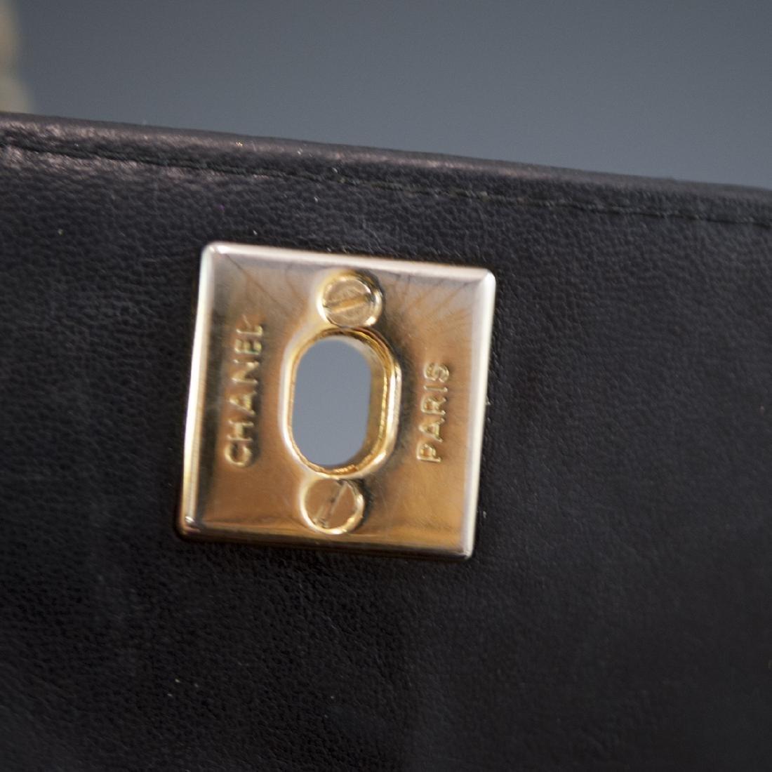 Chanel Mini Black Leather Flap Bag - 6