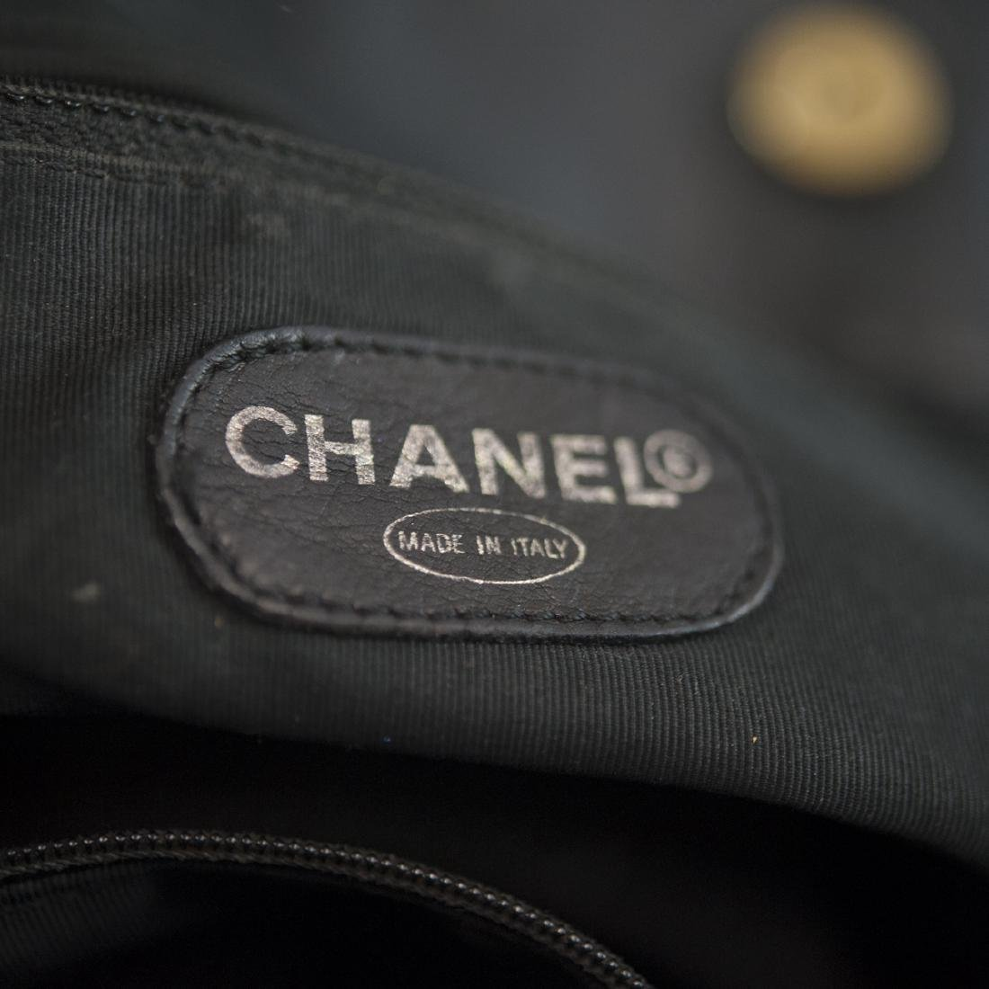 Chanel Black Leather Tote Bag - 3