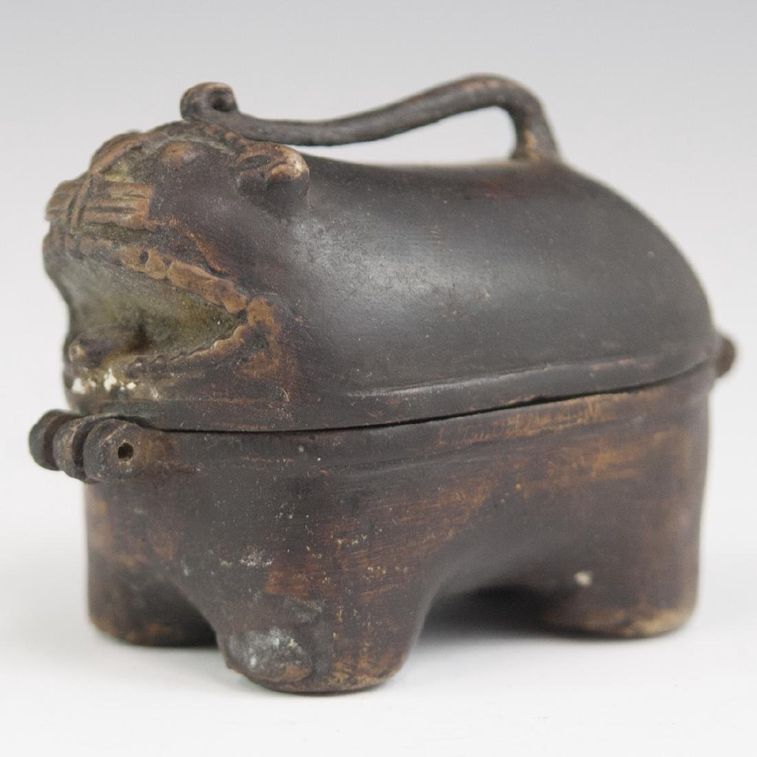 Chinese Bronze Foo Dog Box - 2