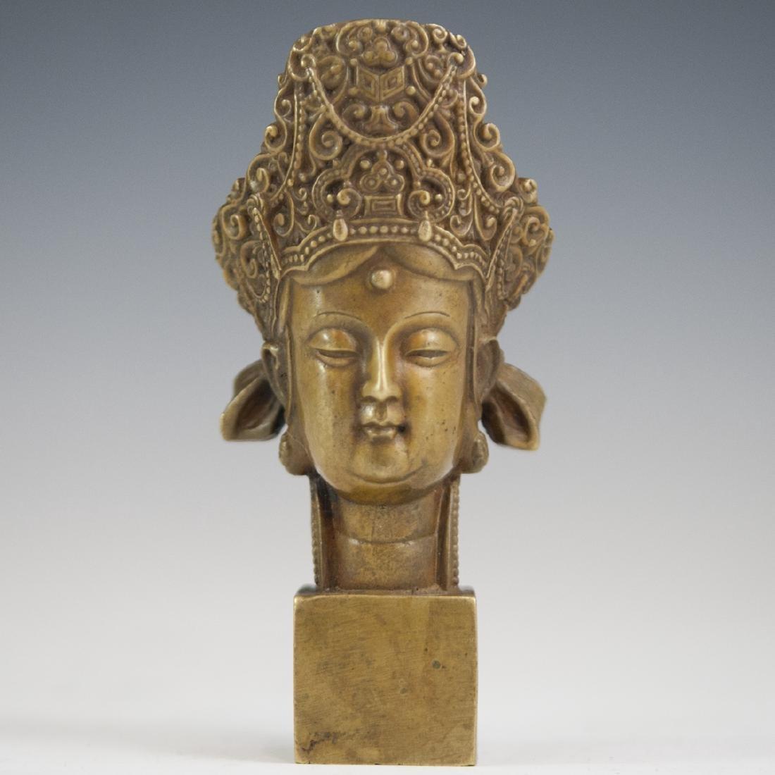Tibetan Bronze Bodhisattva Wax Seal
