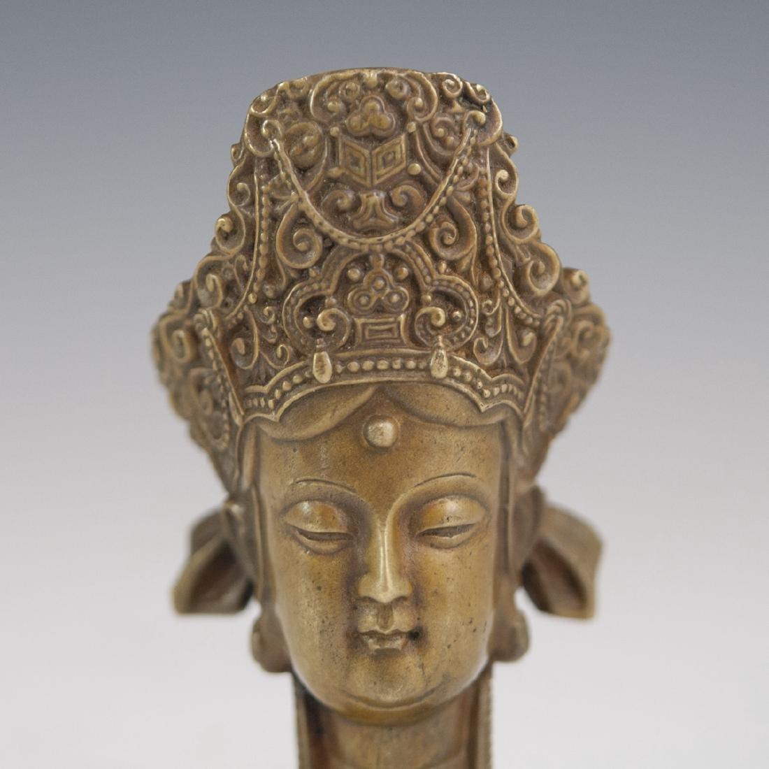 Tibetan Bronze Bodhisattva Wax Seal - 2