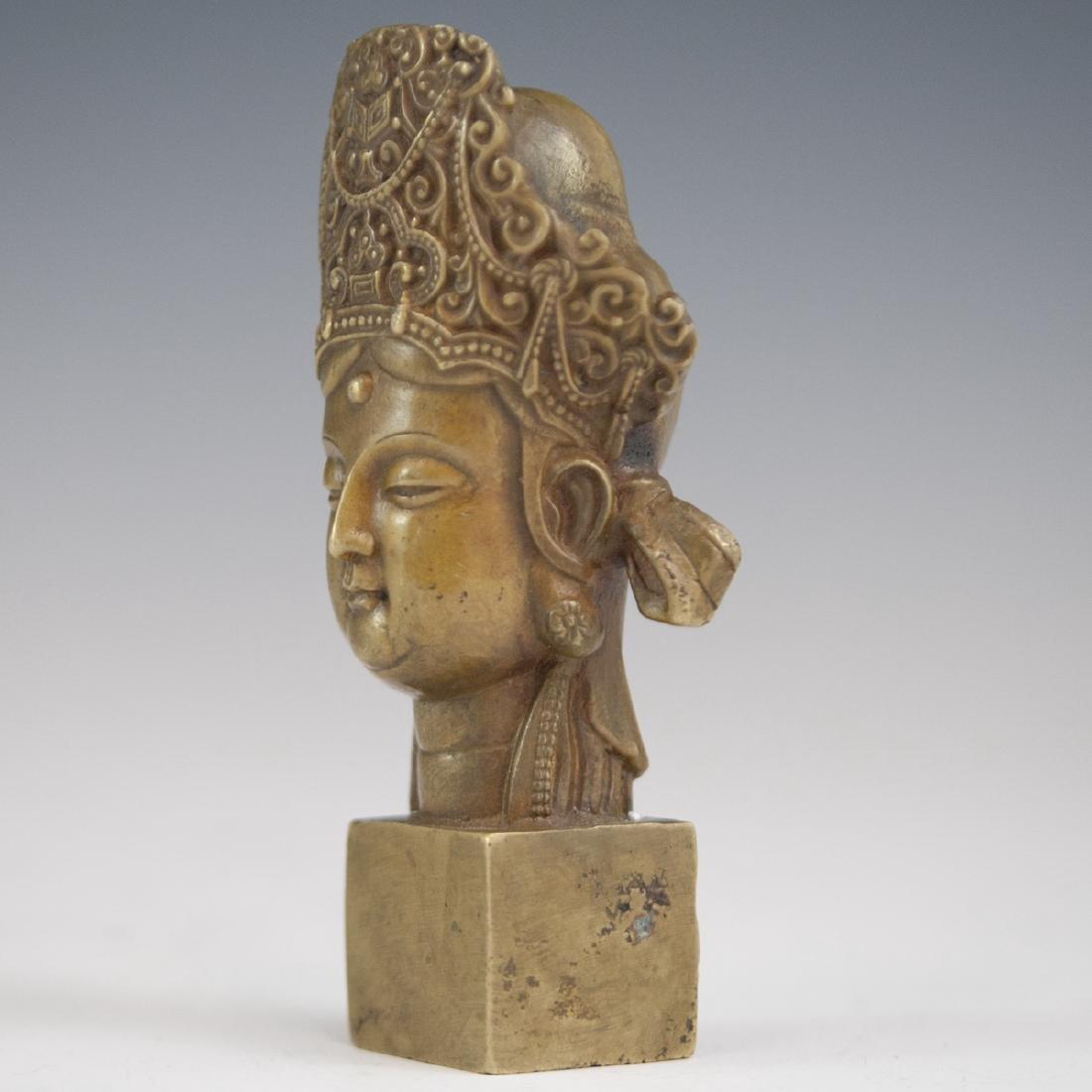 Tibetan Bronze Bodhisattva Wax Seal - 4