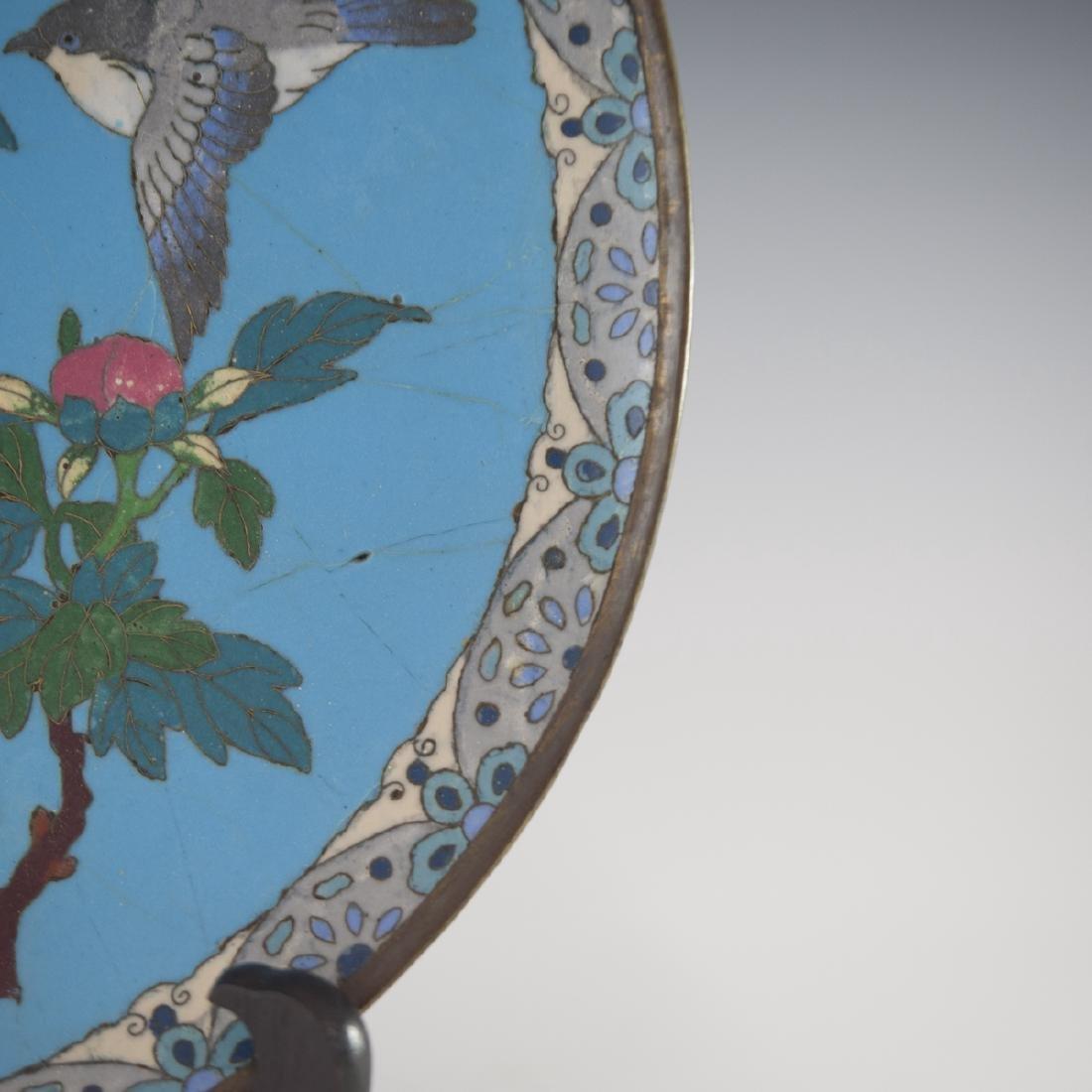 Antique Japanese Cloisonne Enameled Plate - 3