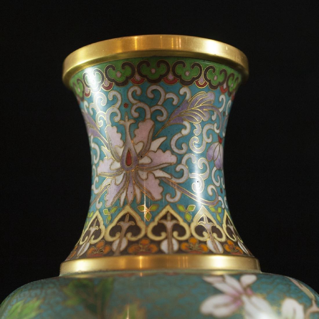 Chinese Enameled Cloisonne Vases - 2