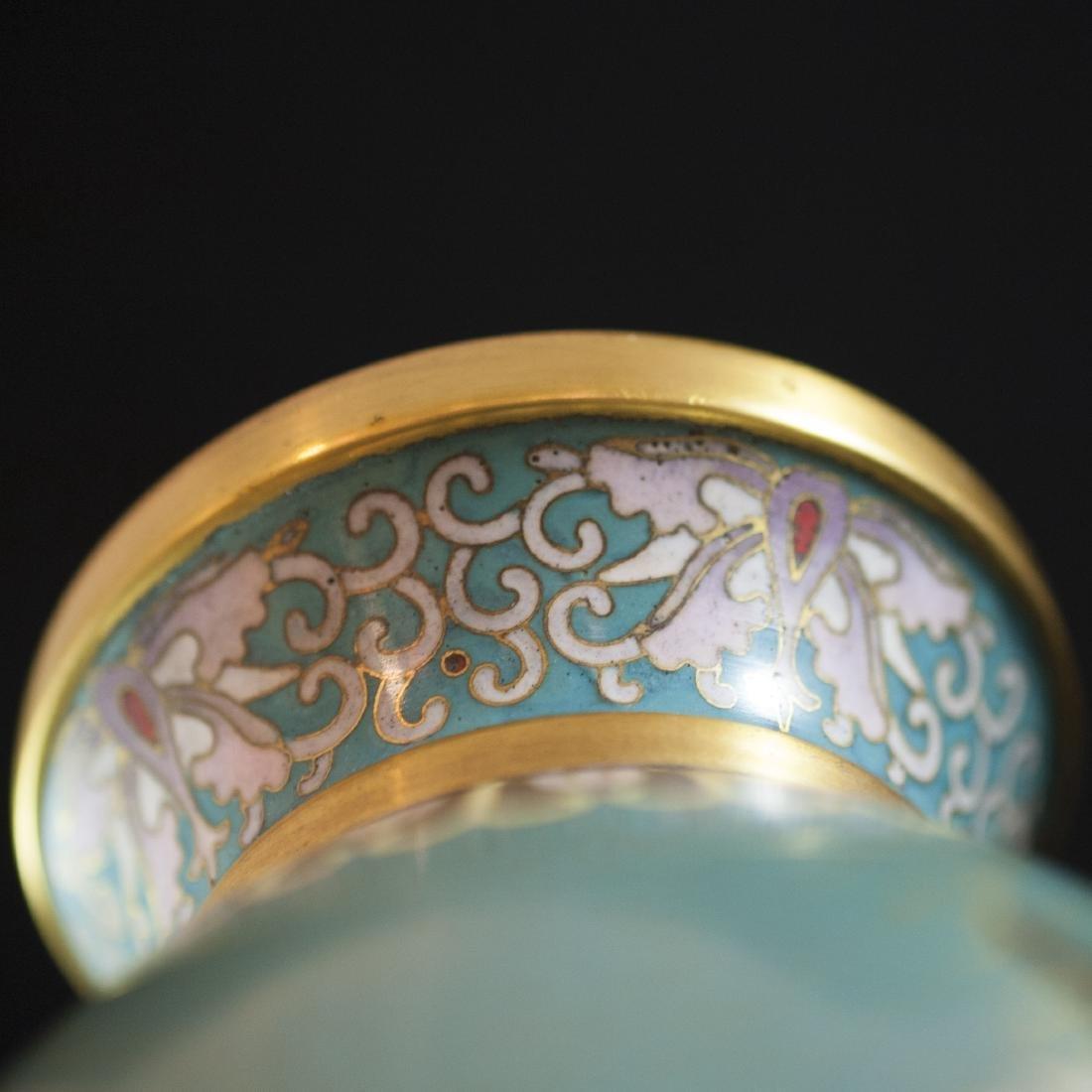 Chinese Enameled Cloisonne Vases - 4