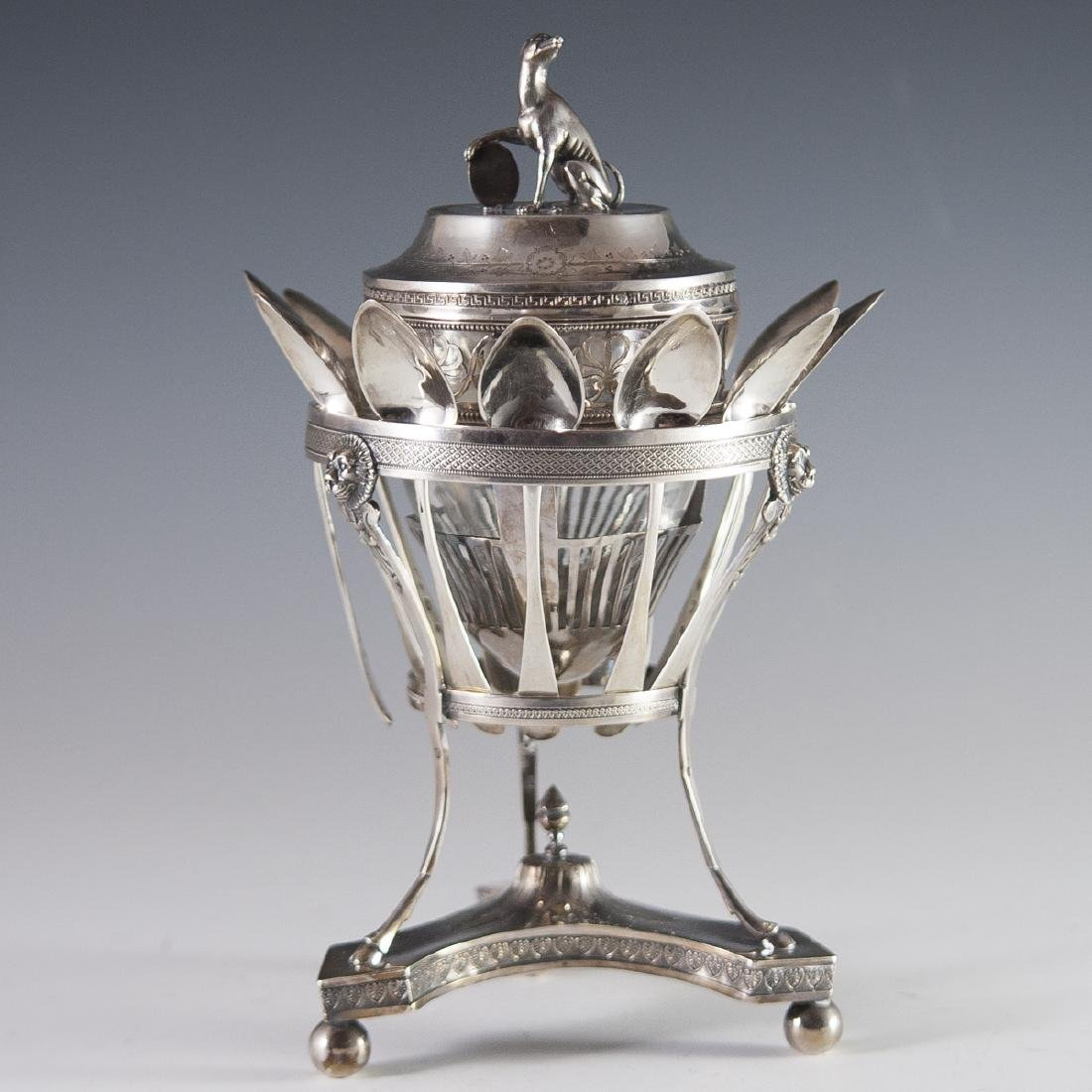 Antique Pierre Phillippe Rosseau Sterling Confiture Jar