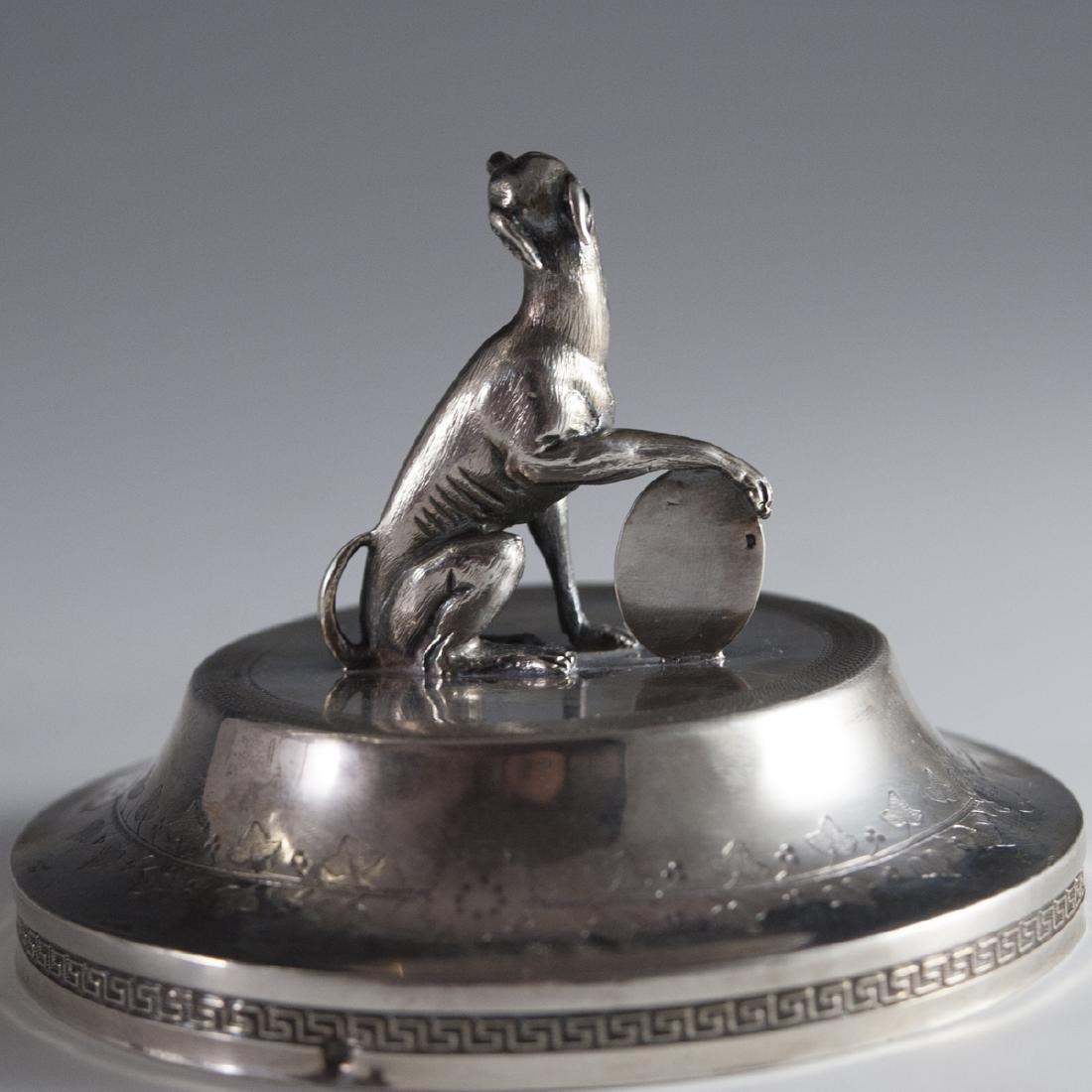 Antique Pierre Phillippe Rosseau Sterling Confiture Jar - 3
