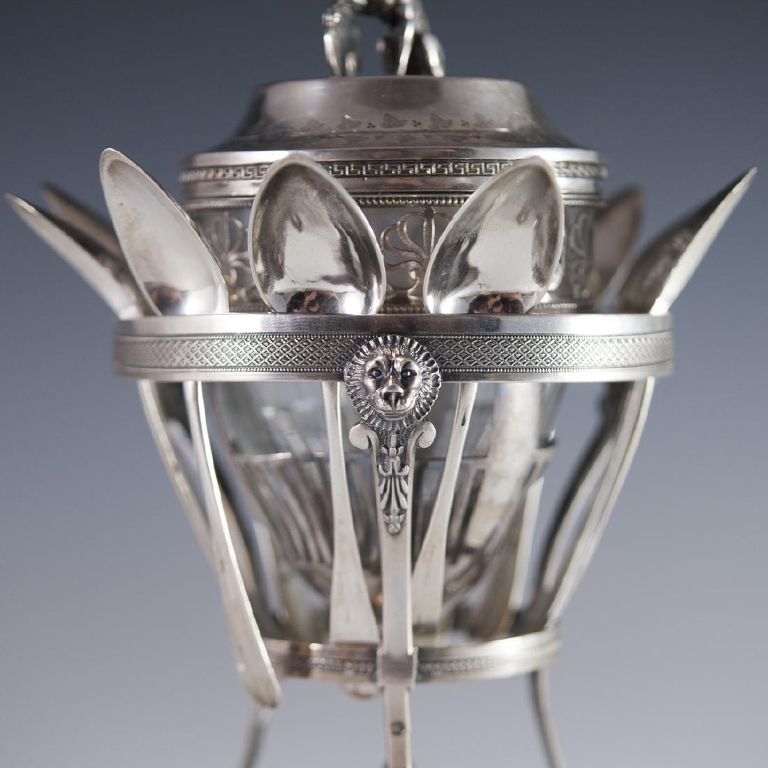 Antique Pierre Phillippe Rosseau Sterling Confiture Jar - 6