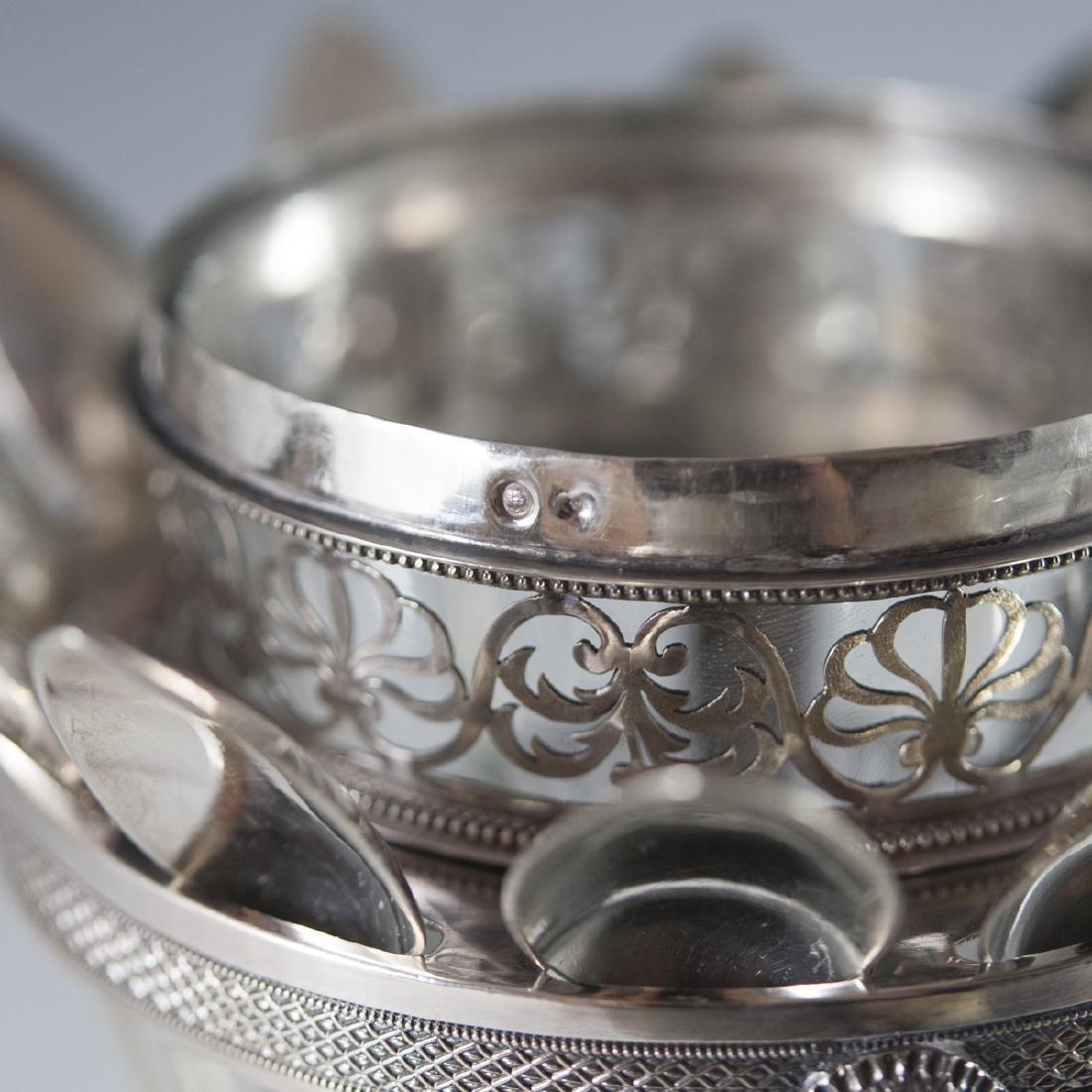 Antique Pierre Phillippe Rosseau Sterling Confiture Jar - 9