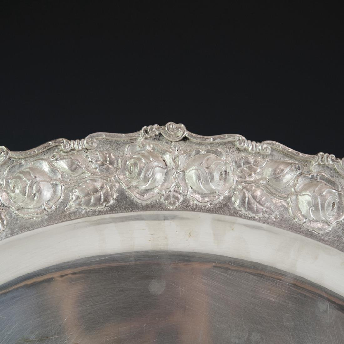 Romana 900 Silver Repousse Tray - 2