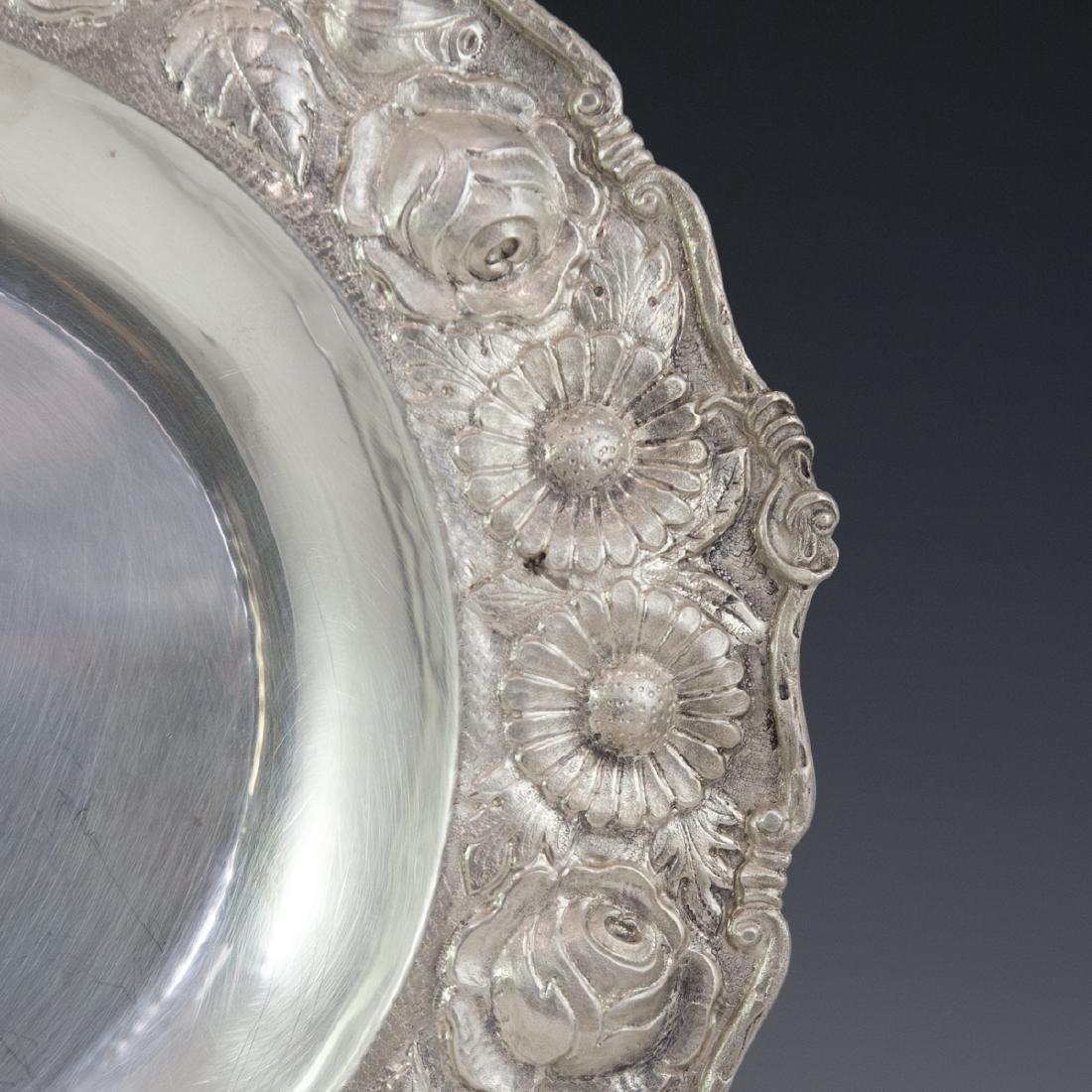 Romana 900 Silver Repousse Tray - 4