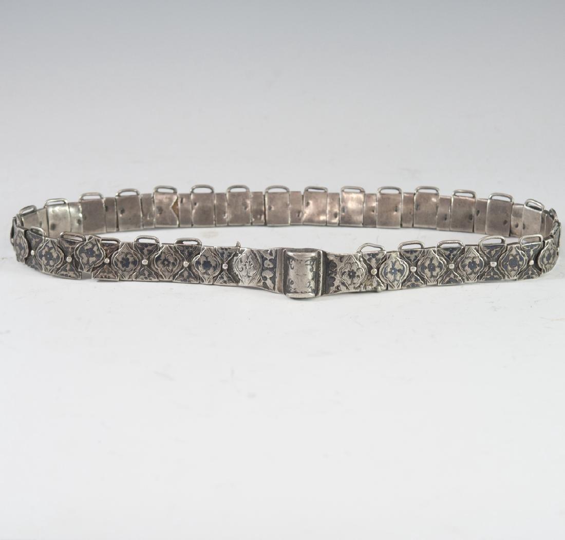 Russian Silver Niello Belt